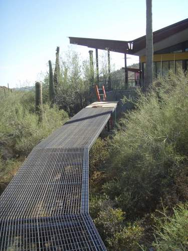 Low Ecological Impact Outdoor Catwalk Walkway Under Construction by Desert Rat Forge